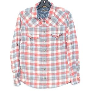 "Jachs Girlfriend ""Bea"" Plaid Snap Front Small A2"
